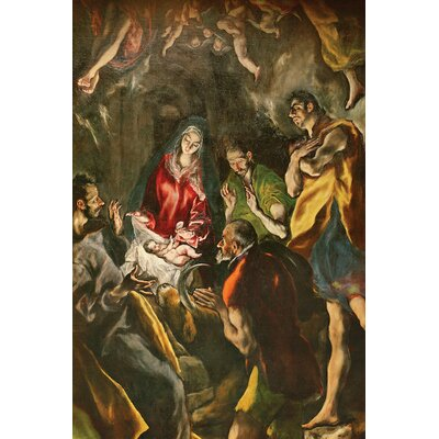 'Detail of the Shepherds' by El Greco Painting Print on Wrapped Canvas