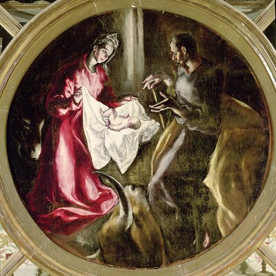 'The Nativity' by El Greco Painting Print on Wrapped Canvas