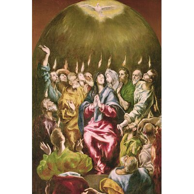 'The Pentecost' by El Greco Painting Print on Wrapped Canvas