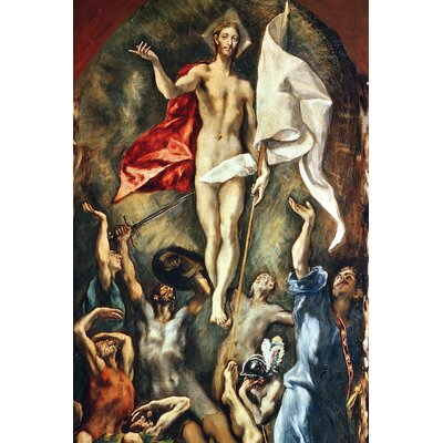 'The Resurrection' by El Greco Painting Print on Wrapped Canvas