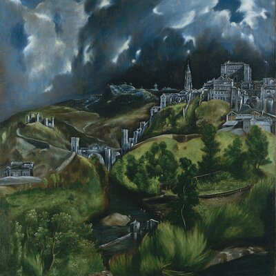 'View of Toledo' by El Greco Painting Print on Wrapped Canvas