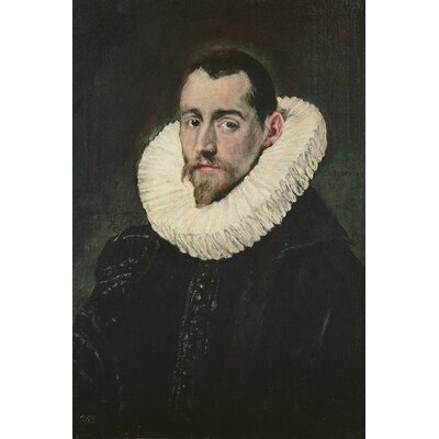 'Portrait of A Young Knight' by El Greco Painting Print on Wrapped Canvas