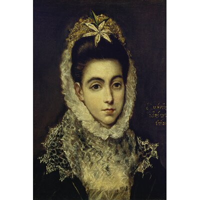 'Portrait of A Young Lady' by El Greco Painting Print on Wrapped Canvas