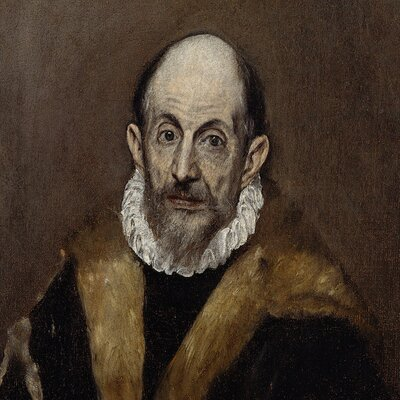 'Portrait of An Old Man' by El Greco Painting Print on Wrapped Canvas
