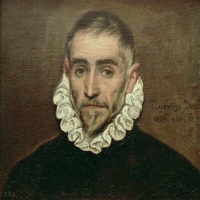 'Portrait of An Unknown Gentleman, c.1594' by El Greco Painting Print on Wrapped Canvas