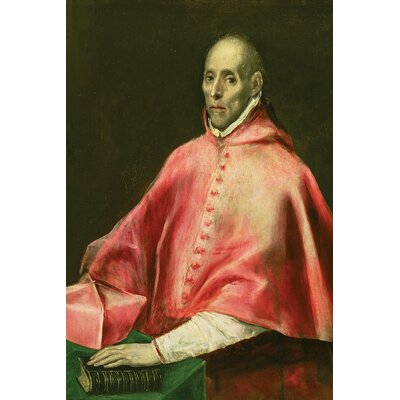 'Portrait of Cardinal Juan de Tavera' by El Greco Painting Print on Wrapped Canvas