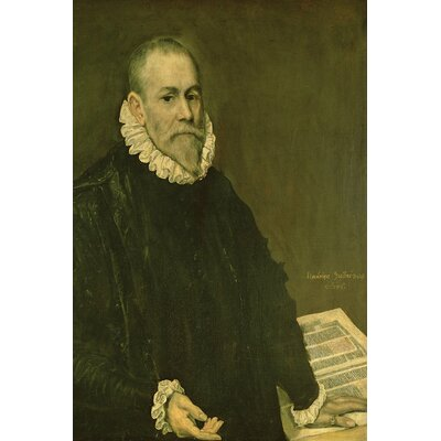 'Portrait of Doctor Rodrigo de la Fuente' by El Greco Painting Print on Wrapped Canvas