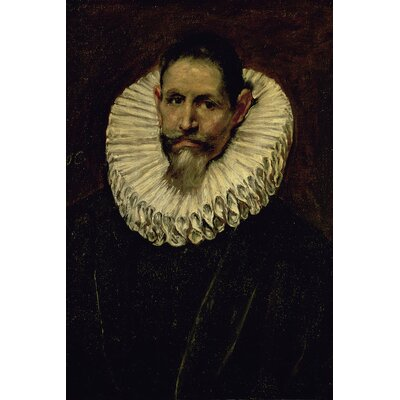 'Portrait of Jeronimo de Cevallos, c.1610' by El Greco Painting Print on Wrapped Canvas