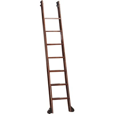 Wakefield 6.41 ft Manufactured Wood Library Rolling Ladder