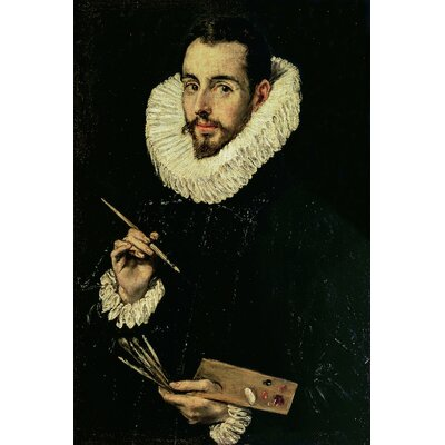 'Portrait of Jorge Manuel Theotokopoulos' by El Greco Painting Print on Wrapped Canvas