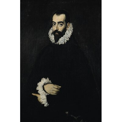 'Portrait of Juan Alfonso' by El Greco Painting Print on Wrapped Canvas