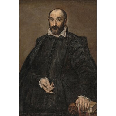 'Portrait of A Man' by El Greco Painting Print on Wrapped Canvas