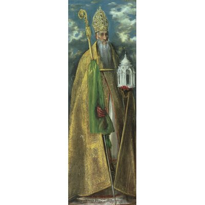 'Saint Augustine of Hippo, 1590' by El Greco Painting Print on Wrapped Canvas