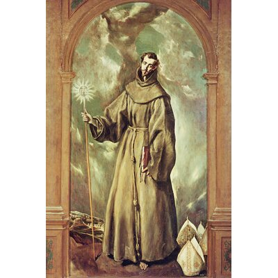 'Saint Bernard of Clairvaux, 1603' by El Greco Painting Print on Wrapped Canvas