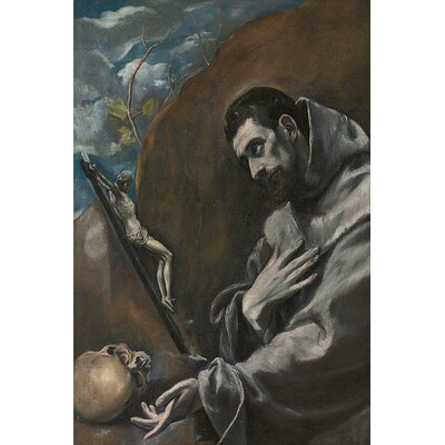 'Saint Francis of Assisi' by El Greco Painting Print on Wrapped Canvas