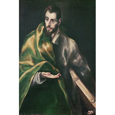 'Saint Jacques le Majeur' by El Greco Painting Print on Wrapped Canvas