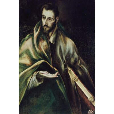 'Saint James the Greater' by El Greco Painting Print on Wrapped Canvas