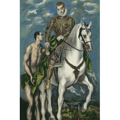'Saint Martin and the Beggar' by El Greco Painting Print on Wrapped Canvas