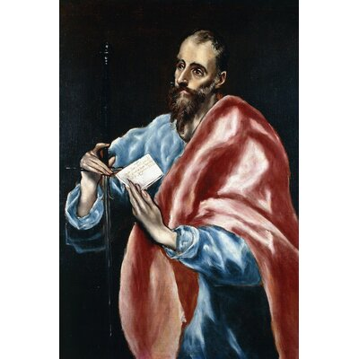 'Saint Paul' by El Greco Painting Print on Wrapped Canvas