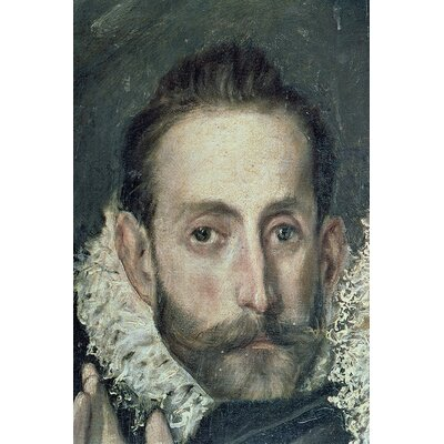 'Self Portrait Detail' by El Greco Painting Print on Wrapped Canvas