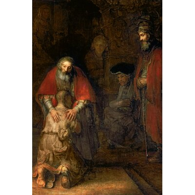 'Return of the Prodigal Son' by Rembrandt van Rijn Painting Print on Wrapped Canvas