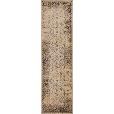 Bailor Ivory/Black Area Rug Rug Size: Runner 23 x 711