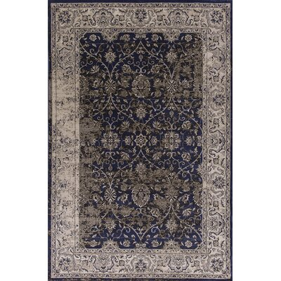 Bailor Ink Blue/Ivory Area Rug Rug Size: 33 x 53