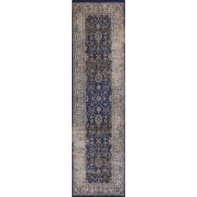 Bailor Ink Blue/Ivory Area Rug Rug Size: Runner 23 x 711