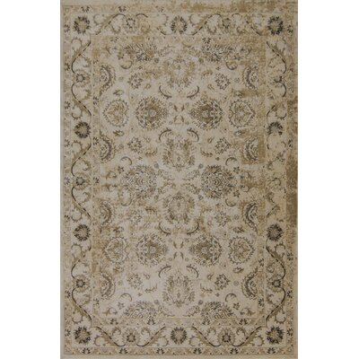 Bailor Ivory/Gold Area Rug Rug Size: Rectangle 33 x 53