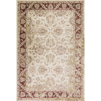Bailor Ivory/Red Area Rug Rug Size: Rectangle 33 x 53