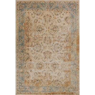 Bailor Ivory/Blue Area Rug Rug Size: Rectangle 53 x 77