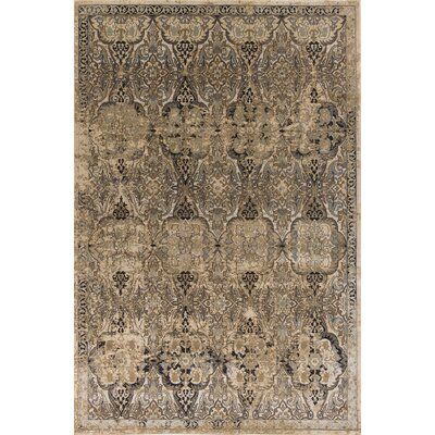 Bailor Ivory/Gray Area Rug Rug Size: Rectangle 53 x 77
