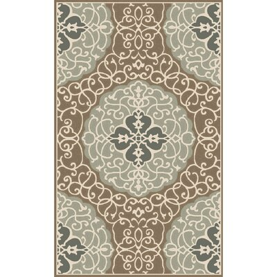 Spenser Hand-Tufted Khaki Area Rug Rug size: Rectangle 5 x 8