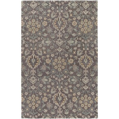 Alden Hand-Tufted Light Gray Area Rug Rug size: 9 x 13