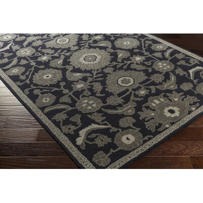 Alden Hand-Tufted Navy Area Rug Rug size: Rectangle 8 x 10