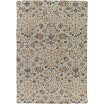 Alden Hand-Tufted Light Gray Area Rug Rug size: Rectangle 5 x 76