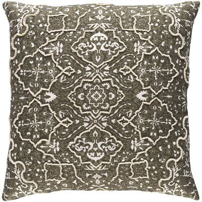 Kalista Pillow Cover Size: 22 H x 22 W x 1 D, Color: Brown/White