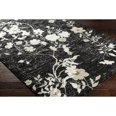 Pippin Hand-Knotted Black/Gray Area Rug Rug Size: Rectangle 6 x 9