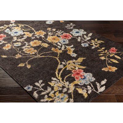 Pippin Hand-Knotted Brown/Blue Area Rug Rug Size: 6 x 9