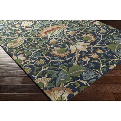 Chapp Hand-Tufted Blue/Green Area Rug Rug Size: 2 x 3