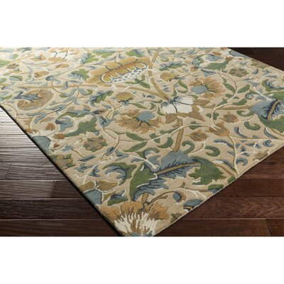 Chapp Hand-Tufted Yellow/Blue Area Rug Rug Size: Rectangle 33 x 53