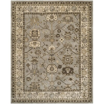 Colliers Hand-Tufted Silver/Cream Area Rug Rug Size: 6 x 9