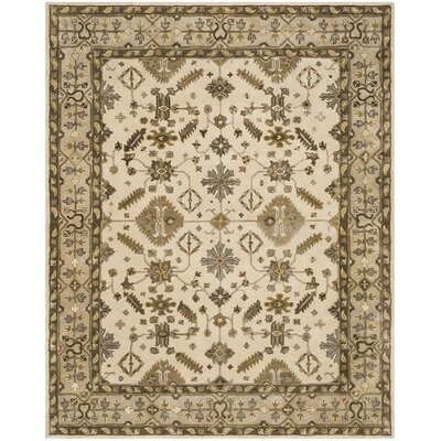 Colliers Hand-Tufted Cream/Light Gray Area Rug Rug Size: Round 7 x 7