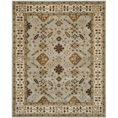 Colliers Hand-Tufted Light Gray/Cream Area Rug Rug Size: Round 7 x 7