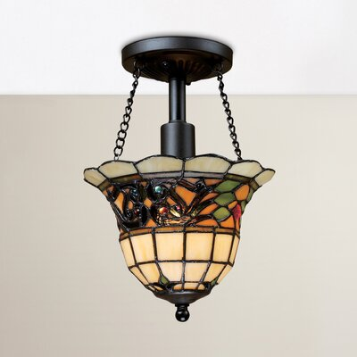 Yorke 1-Light Semi Flush Mount