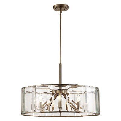Gabriels 8-Light Drum Pendant Finish: Antique Silver