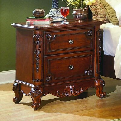 Drew 2 Drawer Nightstand