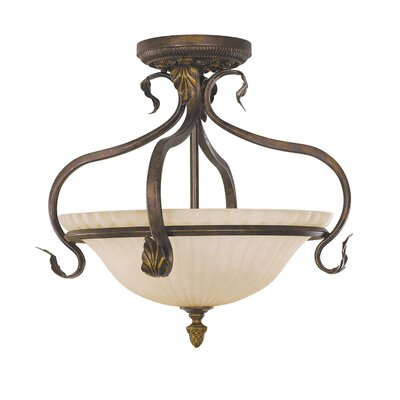 Oxton Small Semi Flush Mount Size: 17