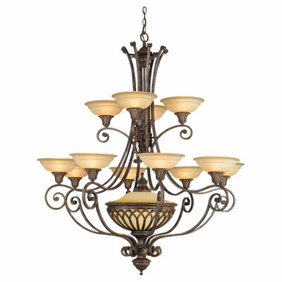 Randall 12-Light Shaded Chandelier