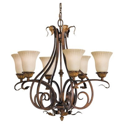 Oxton 6-Light Shaded Chandelier